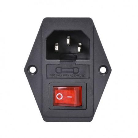 Gniazdo zasilania IEC320 C14 z bezpiecznikiem 10A