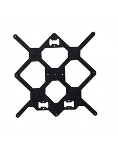 Aluminum heatbed support - clone for Prusa i3 MK2 printer - black.