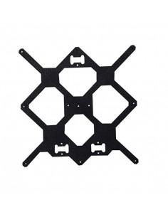 Aluminum heatbed support - clone for Prusa i3 MK2 printer - black.