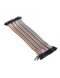 Przewody połączeniowe żeńsko-żeńskie 20 cm Arduino (40 szt.)