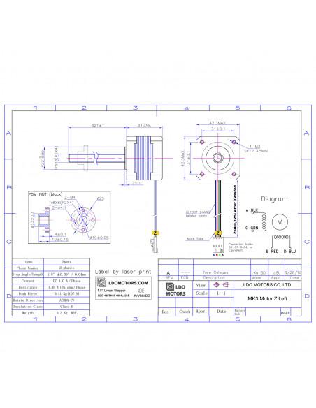 Zestaw silników krokowych LDO Prusa MK3 / Remake MK3s