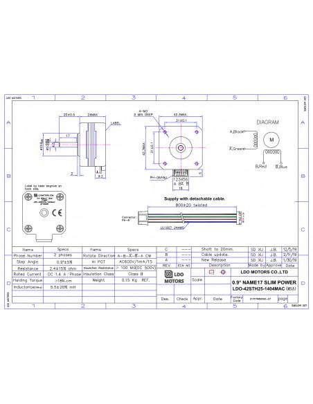Silnik krokowy LDO-42STH25-1404MAC
