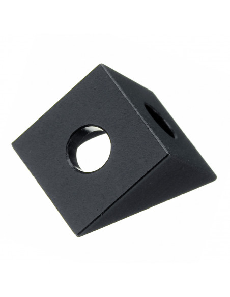 Black angle corner connector for 2020 extrusion