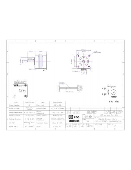 Silnik krokowy LDO-42STH40-1004MAC