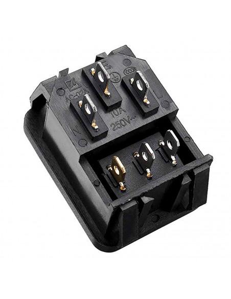 Rocker Switch IEC320 C14 10A 250V