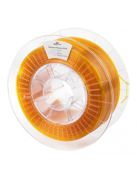 Spectrum Filament PET-G 1.75mm Transparent Yellow 1kg
