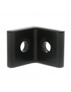Narożnik aluminiowy płaski 90° do profilu 20x20 - czarny