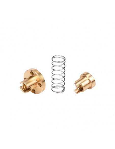 Lead screw nut with anti-backlash TR8X2