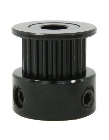 Koło zębate napędowe 6mm pas – 20 zębów – 5mm otwór - czarne
