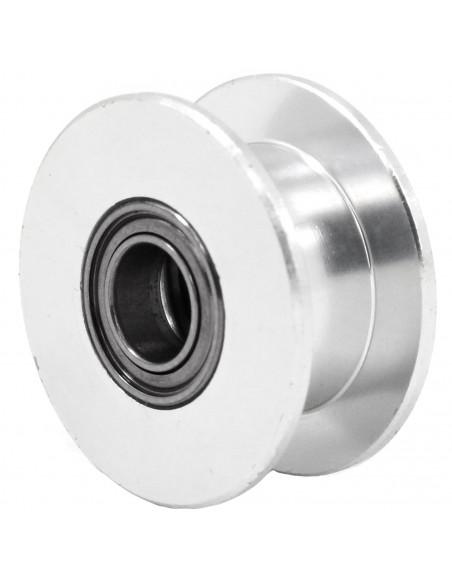 Koło pasowe gładkie 6mm pas – ekwiwalent 20 zębów – 5mm otwór
