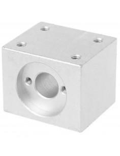 Blok montażowy do śrub trapezowych TR8 srebrny