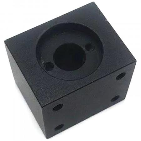 Blok montażowy do śrub trapezowych Tr8 czarny