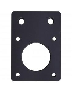 Motor mounting plate NEMA 17 - black