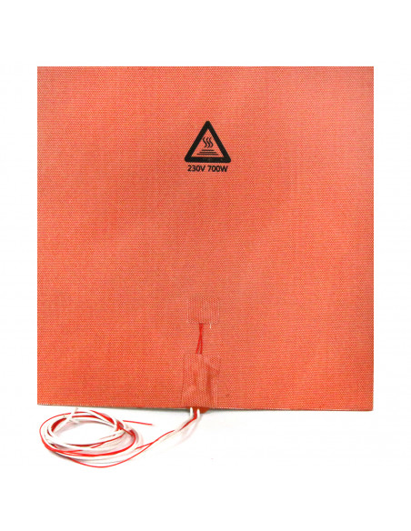 Silicone heater mat 330x330mm 230V 700W