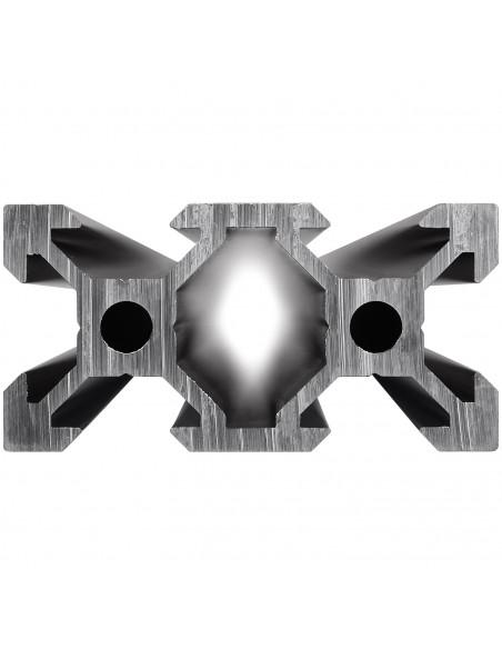 ALTRAX aluminium profile 2040 V-SLOT type - black matte