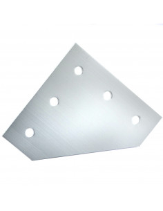 L-type connection plate for 3030 profile - silver