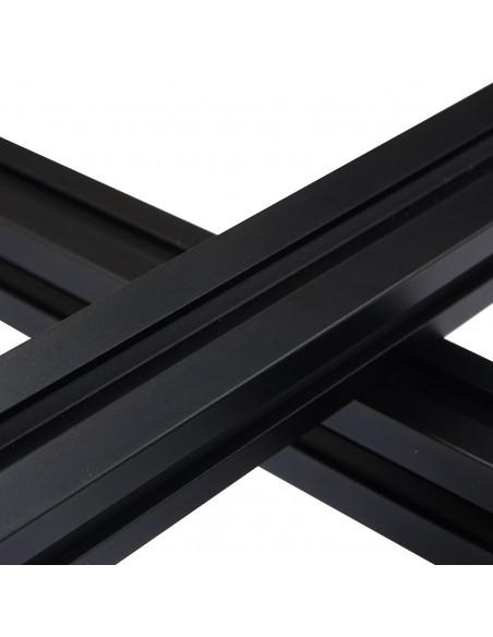 ALTRAX aluminium profile 2020 T-SLOT type - black matte