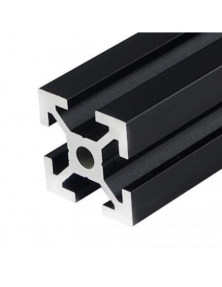 Profil aluminiowy ALTRAX 2020 T-SLOT 40cm - czarny mat