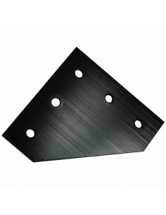 L-type connection plate for 3030 profile - black