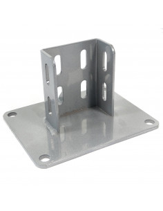 Floor mount base plate for 3060 profile