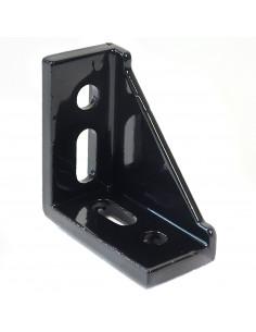 4 Hole Inside Corner Bracket with single support - 60x60x30mm - black