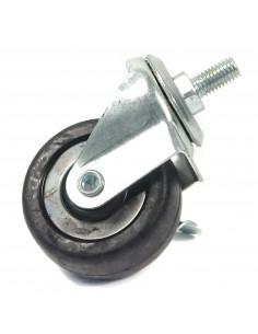 Threaded stem swivel caster - 50 mm diameter