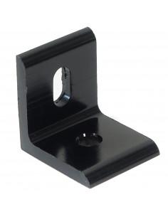 Flat aluminum corner for 3030 profile - 30x30x26 - black