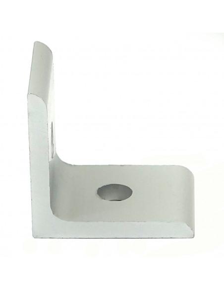 Złącze kątowe 90° - 25x25x18mm - srebrne