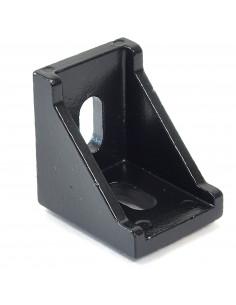 90° reinforced angle bracket - 28x28x19mm - black