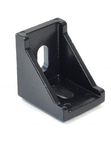Złącze kątowe 90° wzmocnione - 28x28x19mm - czarne
