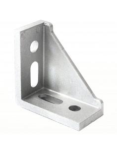 Złącze kątowe 90° wzmocnione jednostronnie - 60x60x30mm - srebrne