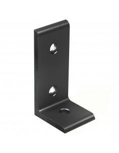 Złącze kątowe aluminiowe płaskie 90° do profilu 3030 - czarne