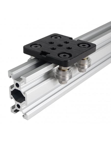 V-SLOT trolley - 50mm x 50mm - black & silver