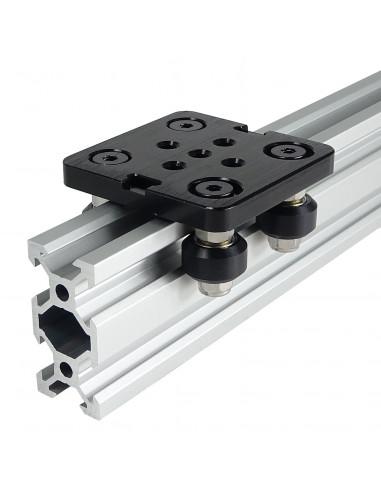 V-SLOT trolley - 50mm x 50mm - black