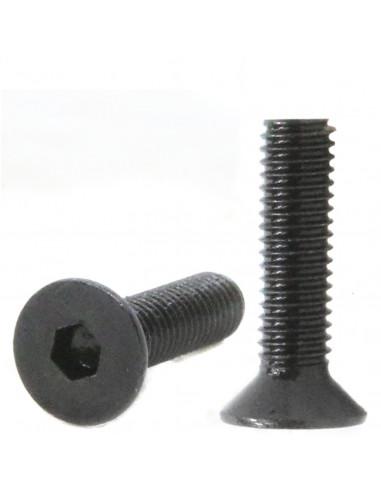 Śruba imbusowa stożkowa M4x12mm DIN 7991 - czarna