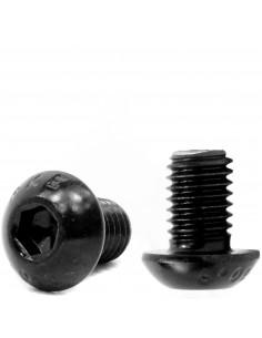 Śruba imbusowa z łbem kulistym M4x6mm ISO 7380-1 - czarna