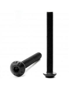 Śruba imbusowa z łbem kulistym M4x25mm ISO 7380-1 - czarna