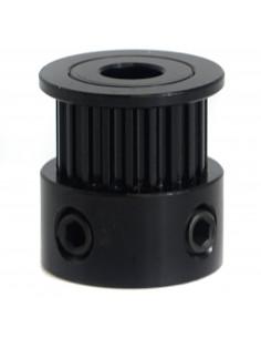 Koło zębate napędowe Remake3D 6mm pas – 20 zębów – 5mm otwór - czarne
