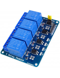 Relay module 4-channels 12V 10A