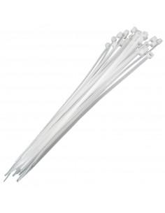 Białe opaski zaciskowe nylonowe 4,8x250mm - 100 szt