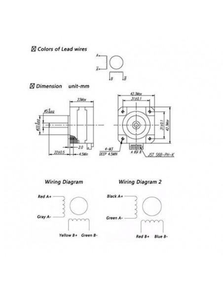 Silnik krokowy NEMA 17 17HS4023